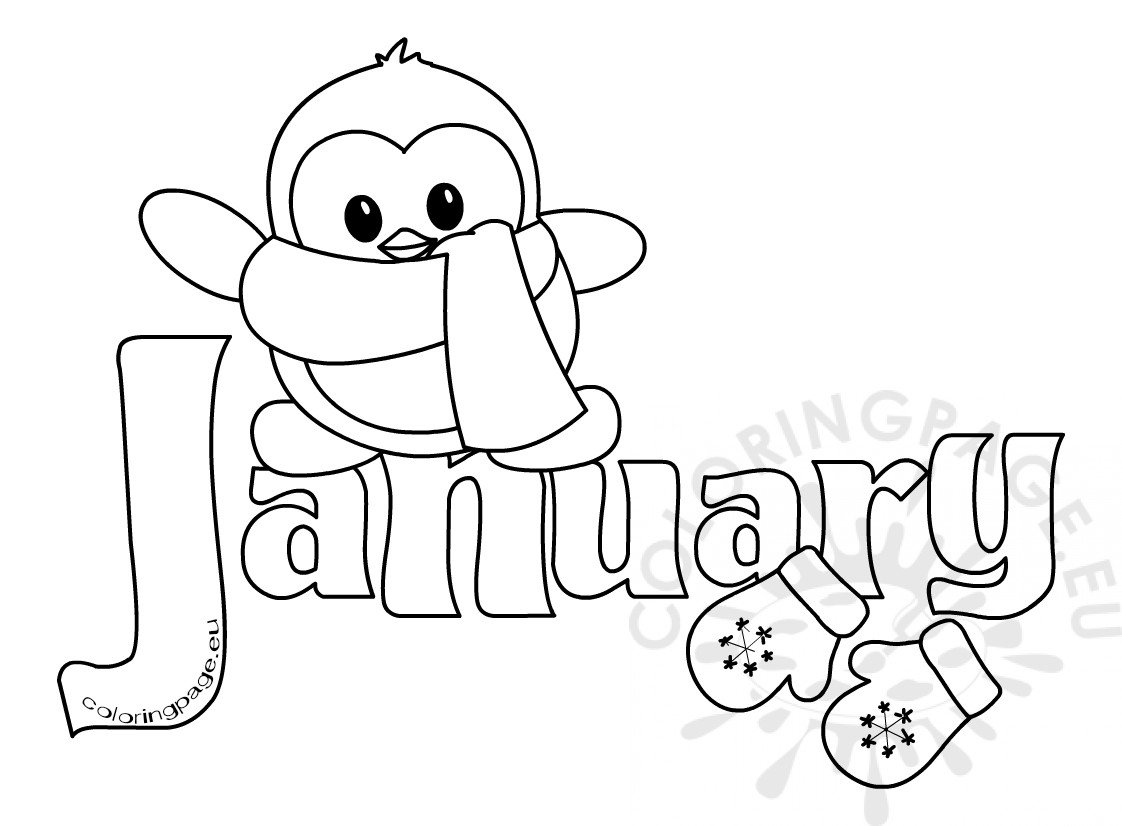 january coloring pages winter month of january clipart kid coloring page coloring january pages