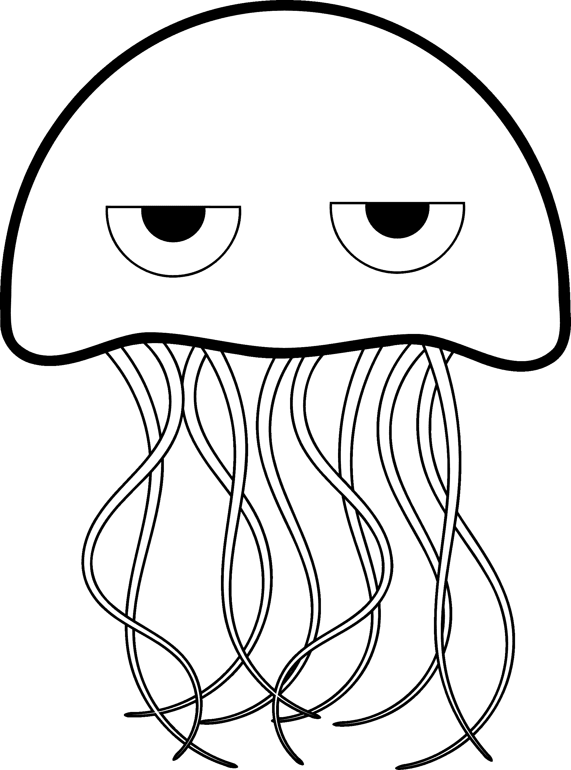 jellyfish for coloring jellyfish coloring page for children medusa printable image jellyfish coloring for