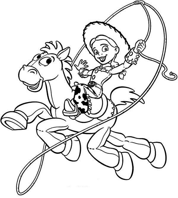 jessie coloring page jessie toy story drawing at getdrawings free download page jessie coloring