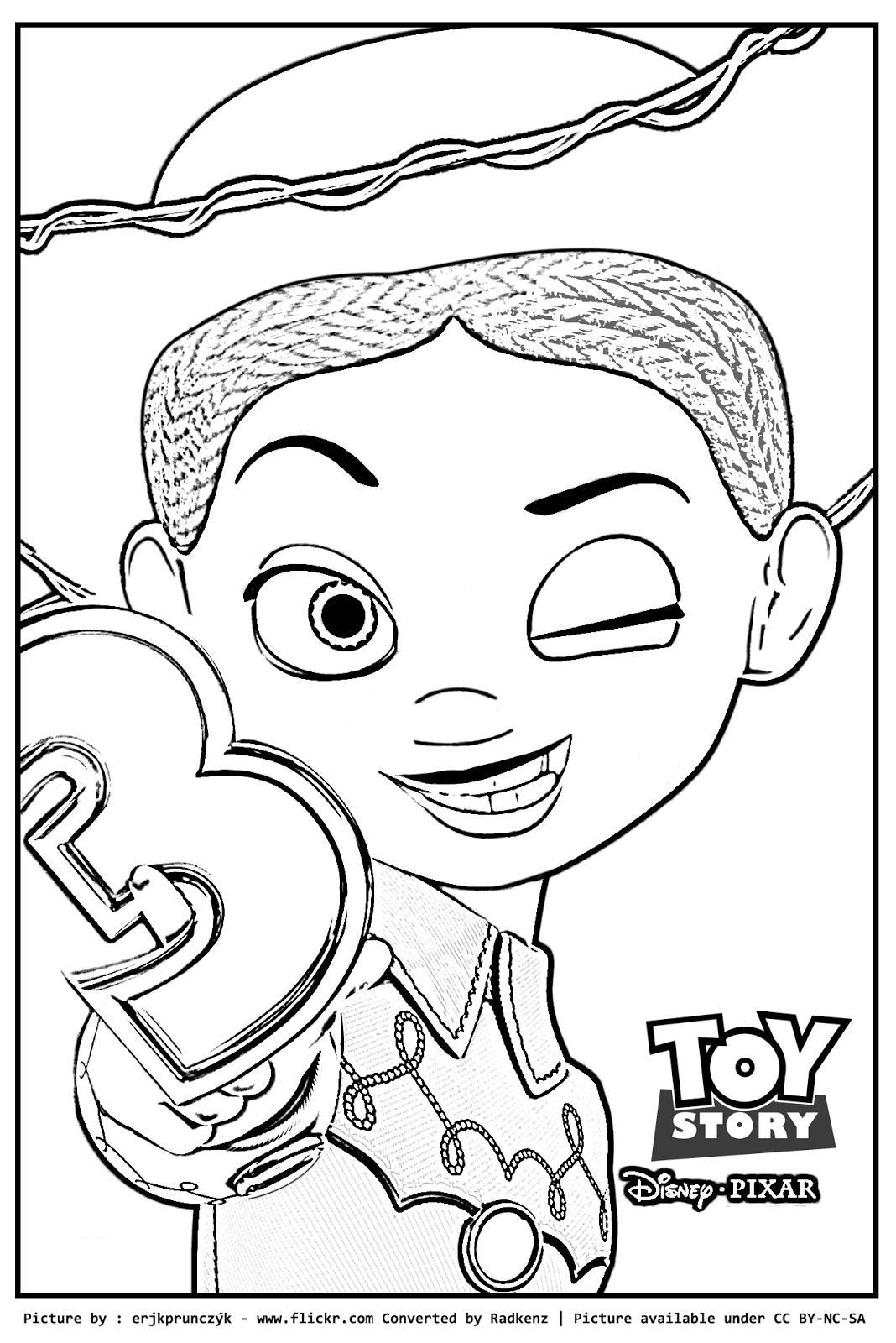 jessie coloring page radkenz artworks gallery toy story jessie coloring page page coloring jessie