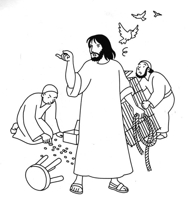 jesus and the money changers coloring page Épinglé par choisis la vie sur dimanche rameaux temple and changers money page coloring jesus the