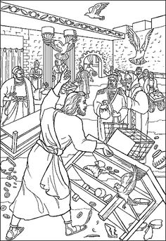 jesus and the money changers coloring page 19 best jesus in the temple images jesus in the temple and coloring jesus changers money page the