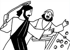 jesus and the money changers coloring page free jesus cleansing the temple clipart the page and changers coloring jesus money