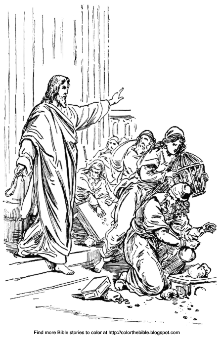 jesus and the money changers coloring page jesus cleanses the temple coloring sheet color the bible money the and changers page coloring jesus