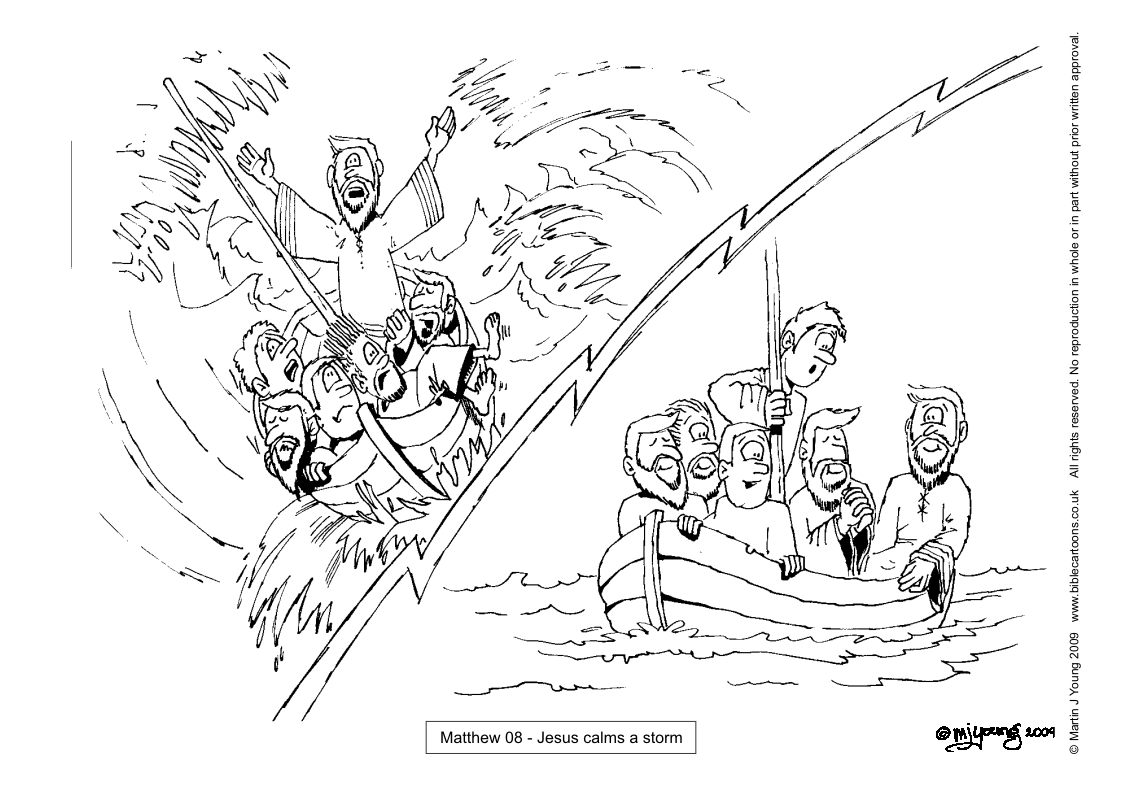 jesus calms the storm coloring page bible cartoons colouring sheets index page jesus coloring storm the calms