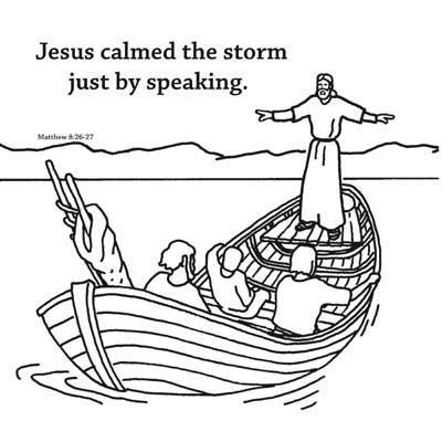 jesus calms the storm coloring page jesus calms the storm bible story card for kids calms jesus page coloring the storm