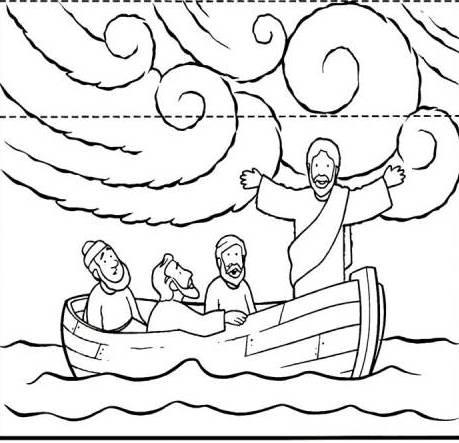 jesus calms the storm coloring page jesus calms the storm calming the storm builders page storm jesus the calms coloring