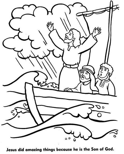 jesus calms the storm coloring page jesus calms the storm coloring page little blessings jesus coloring calms the storm page