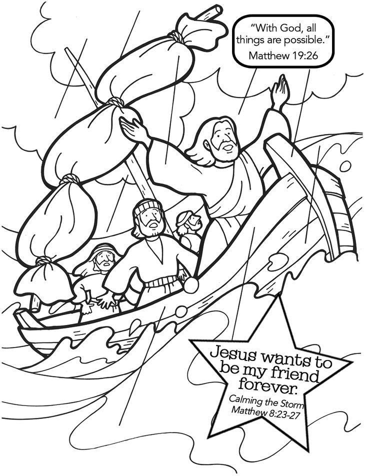 jesus calms the storm coloring page quotjesus calms the stormquot matthew 823 27 2 yr old class jesus page calms coloring storm the