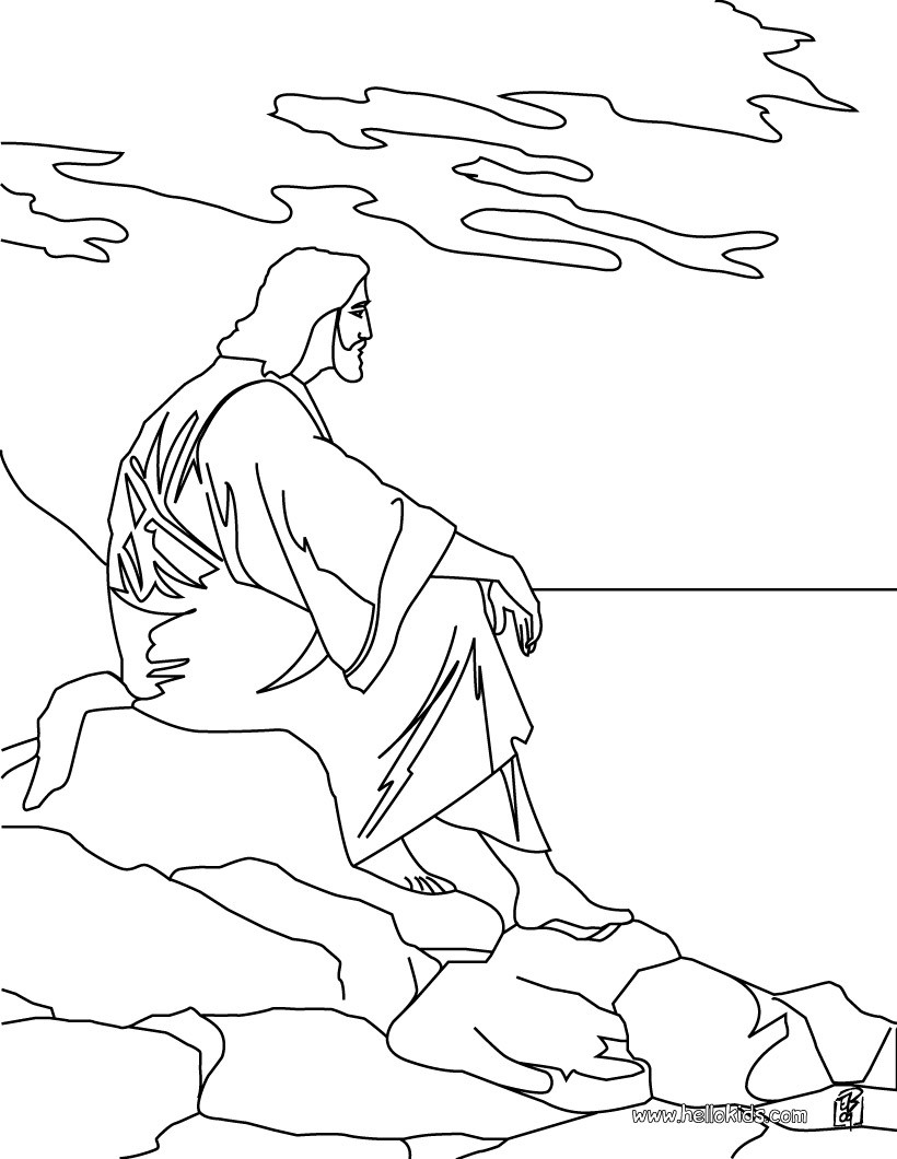 jesus coloring page christ meeting the children coloring page jesus
