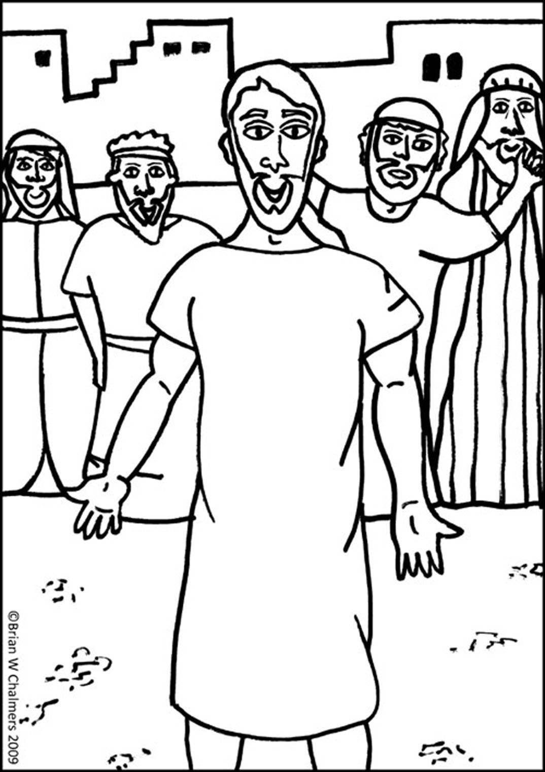 jesus heals a paralyzed man coloring page jesus forgives and heals a paralyzed man mark 21 12 a man coloring jesus page heals paralyzed