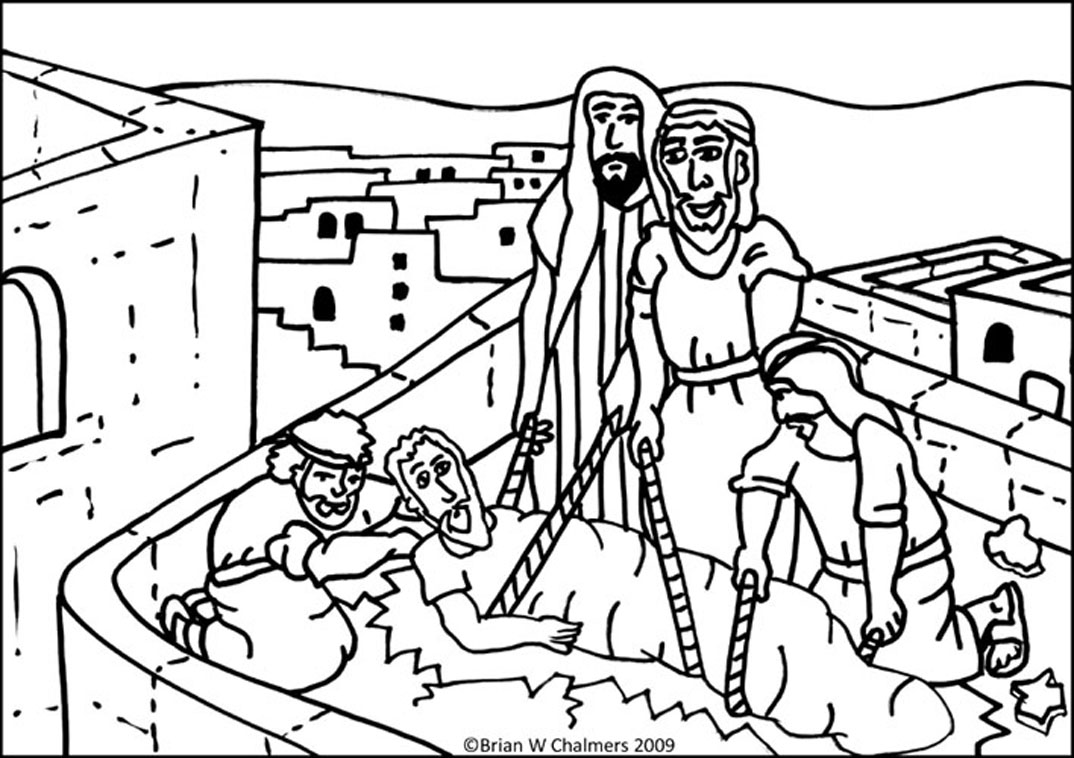 jesus heals a paralyzed man coloring page jesus heals a paralyzed man coloring erieairfair heals jesus coloring man page paralyzed a