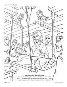 jesus heals a paralyzed man coloring page jesus heals the paralytic man colouring sheet sunday paralyzed man a page coloring jesus heals