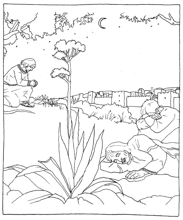 jesus in the garden of gethsemane coloring page 1000 images about lent on pinterest maundy thursday of jesus page the in gethsemane coloring garden