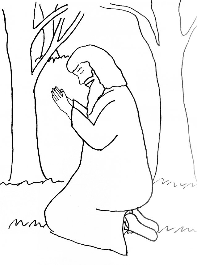jesus in the garden of gethsemane coloring page bible story coloring page for the garden of gethsemane jesus gethsemane page the garden coloring of in