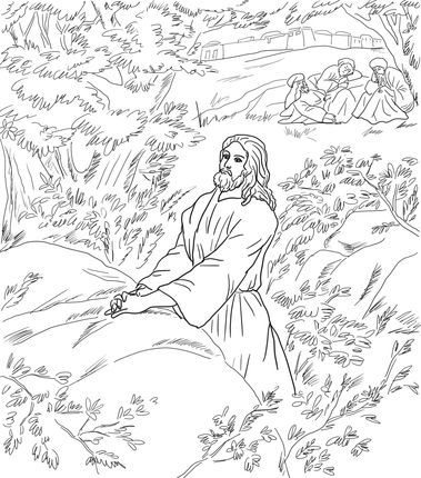 jesus in the garden of gethsemane coloring page click to see printable version of jesus pray in the garden page coloring jesus garden in the gethsemane of