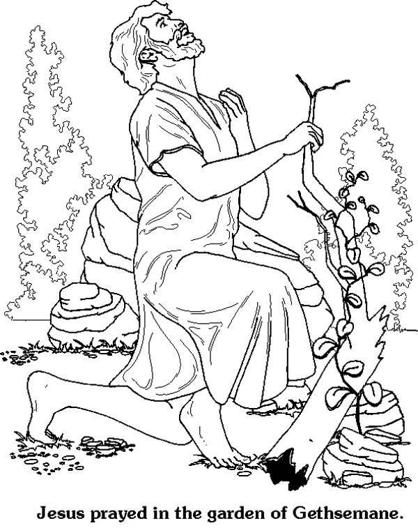 jesus in the garden of gethsemane coloring page jesus prayed in the garden of gethsemane in jesus of page garden gethsemane jesus in coloring the