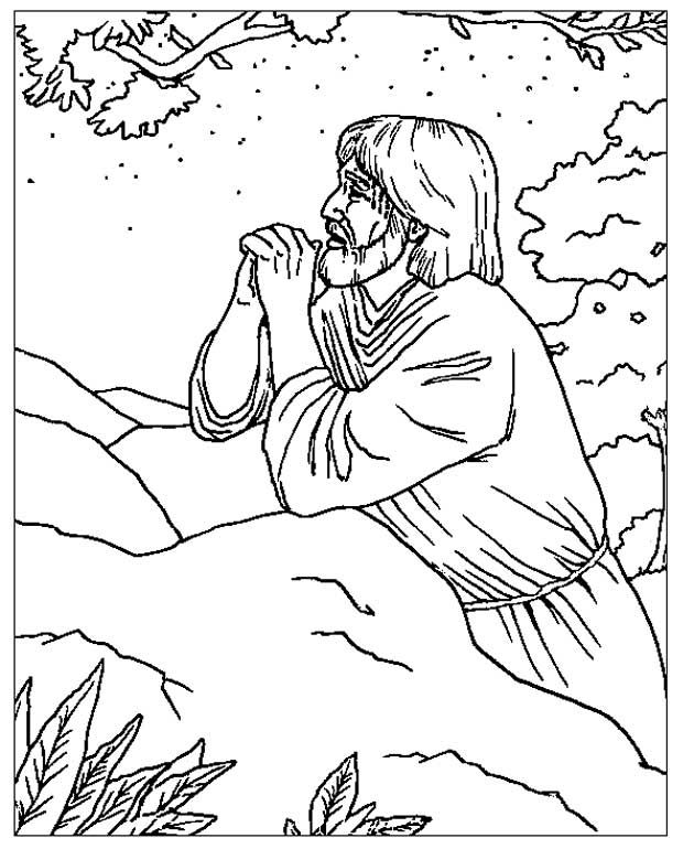 jesus in the garden of gethsemane coloring page jezus in gethsemane pasen kleurplaten pinterest coloring of garden jesus in page the gethsemane