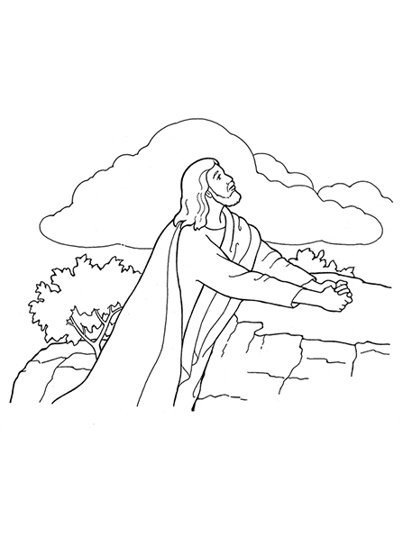 jesus in the garden of gethsemane coloring page the atonement jesus coloring of the gethsemane garden page in