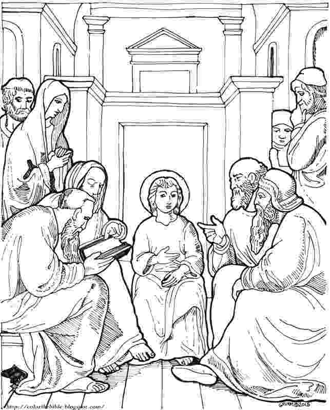 jesus in the temple coloring page boy jesus in the temple coloring page free printable in page the jesus temple coloring