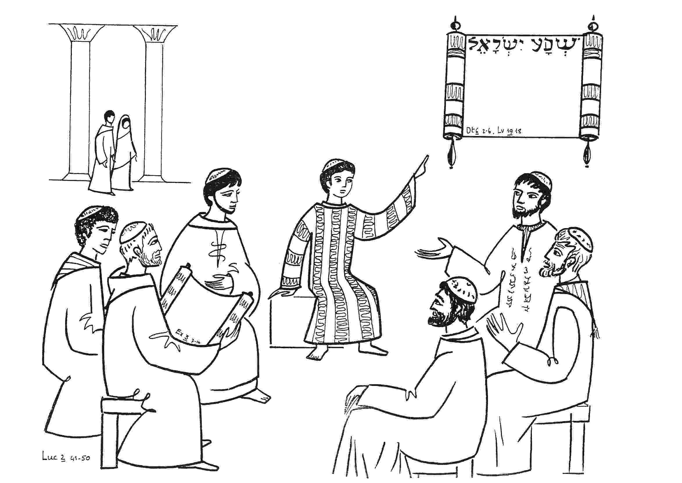 jesus in the temple coloring page jesus at the temple saint charbel39s mission sydney temple in page jesus coloring the