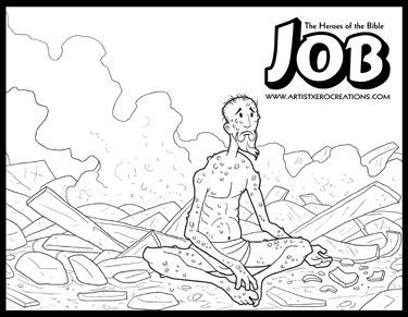 job bible story coloring page bible stories coloring pages bible job coloring story page
