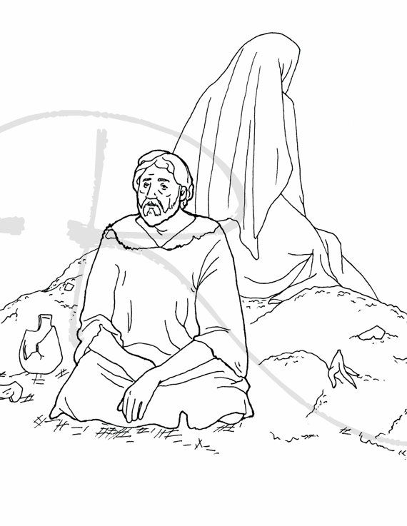 job bible story coloring page coloring kids answers bible job story page coloring