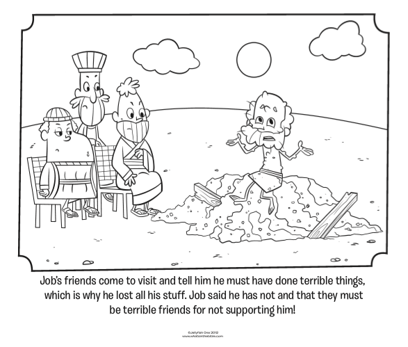 job bible story coloring page job bible coloring page when disaster strikes job page coloring story job bible