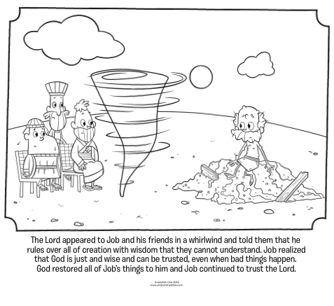 job bible story coloring page job39s friends visit bible coloring pages what39s in the job page story bible coloring