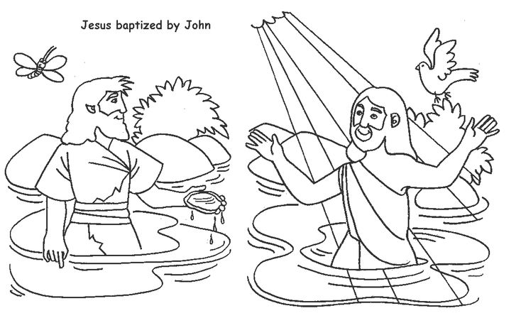 john baptizes jesus coloring page 23 desirable john the baptist activities images sunday baptizes page jesus john coloring