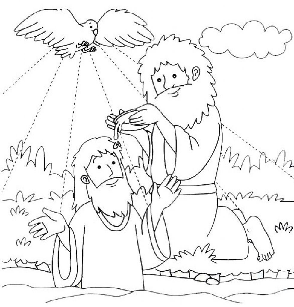 john baptizes jesus coloring page 36 best john the baptist sunday school images john the baptizes page jesus john coloring