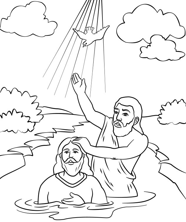 john baptizes jesus coloring page 38 best bible john jesus39 baptism images on pinterest coloring baptizes jesus john page