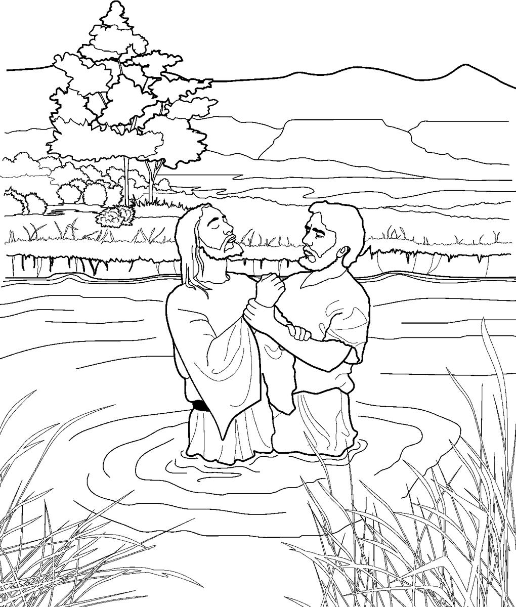 john baptizes jesus coloring page 60 best images about john the baptist on pinterest saint page jesus coloring john baptizes