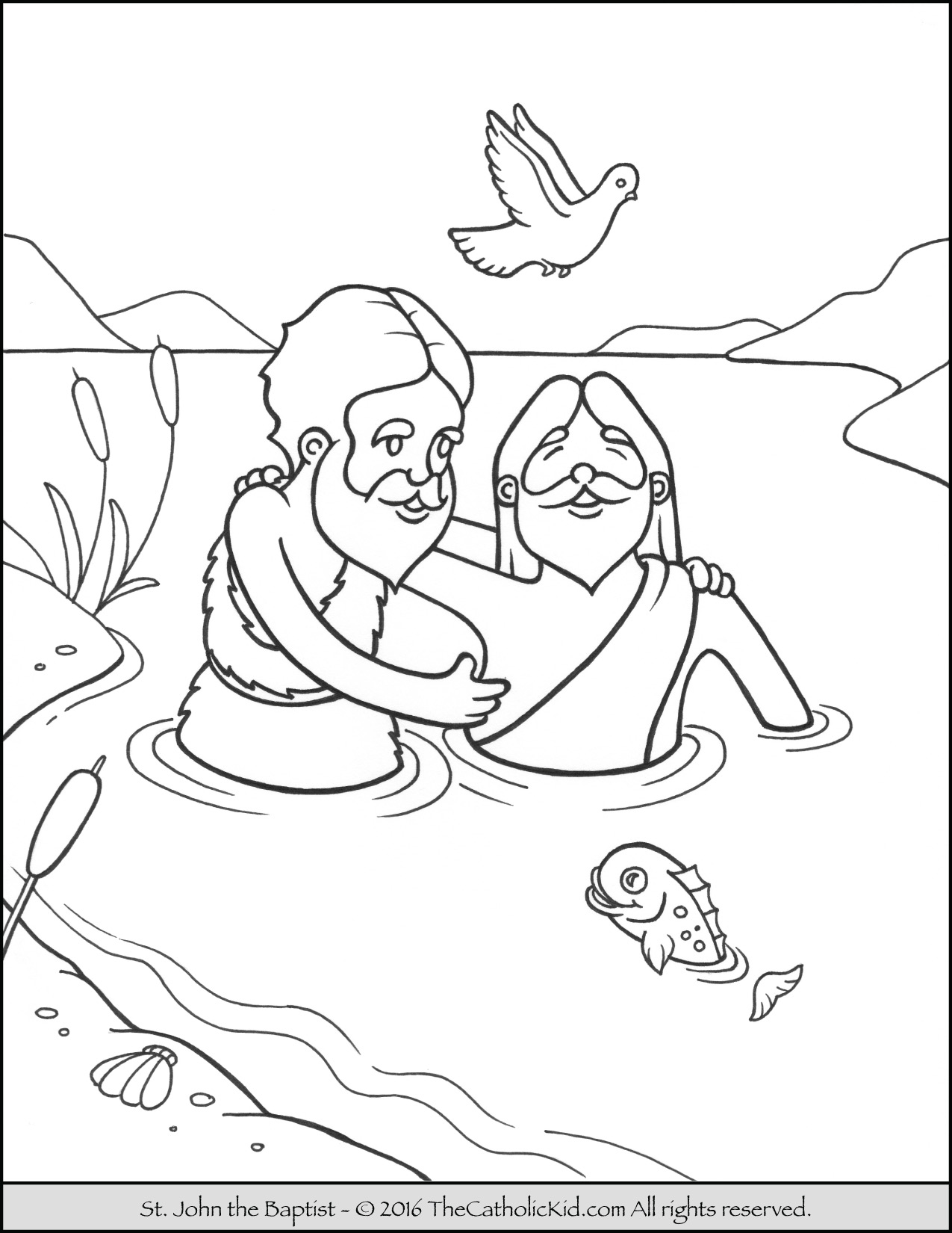 john baptizes jesus coloring page baptism drawing at getdrawingscom free for personal use page coloring john baptizes jesus