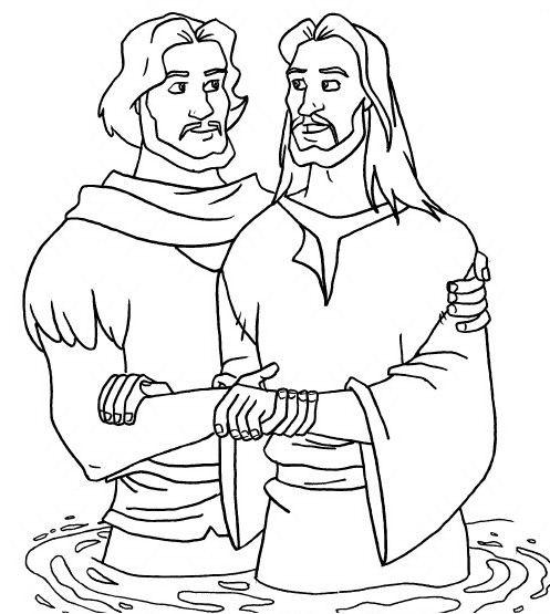 john baptizes jesus coloring page cloë tallulah the church dogs st john the baptist jesus page john coloring baptizes