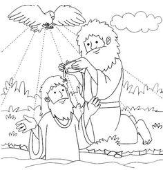 john baptizes jesus coloring page jesus baptism with holy spirit in john the baptist john page jesus coloring baptizes