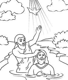 john baptizes jesus coloring page john baptizing jesus coloring page page coloring jesus john baptizes