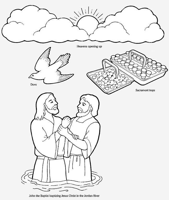 john baptizes jesus coloring page saint john the baptist coloring pages the catholic kid john coloring baptizes page jesus
