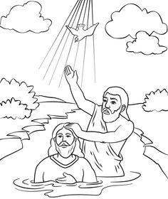 john baptizes jesus coloring page the 25 best jesus baptism craft ideas on pinterest when page baptizes jesus coloring john