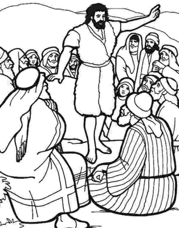 john the baptist coloring pages printable baptism of jesus coloring sheets john pages the coloring printable baptist