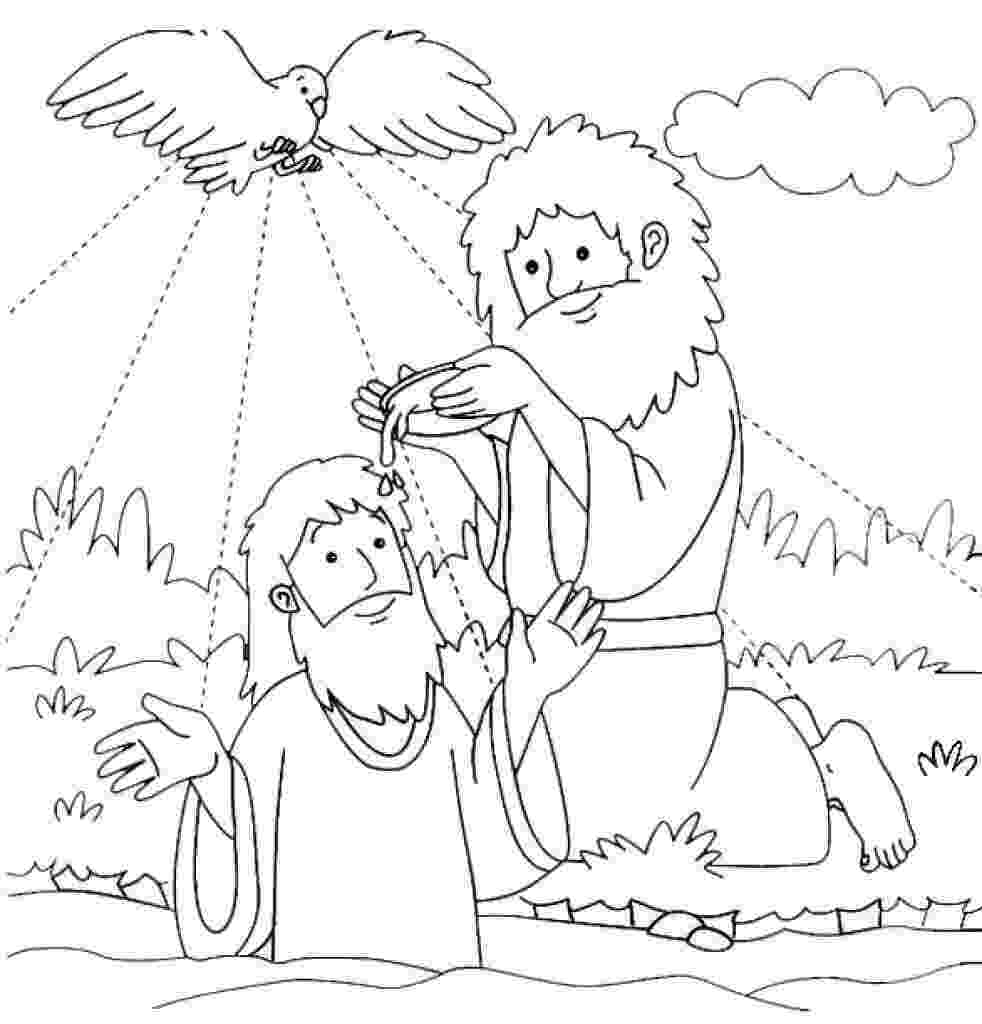 john the baptist coloring pages printable jesus baptism by john the baptist coloring page sketch printable john coloring baptist pages the