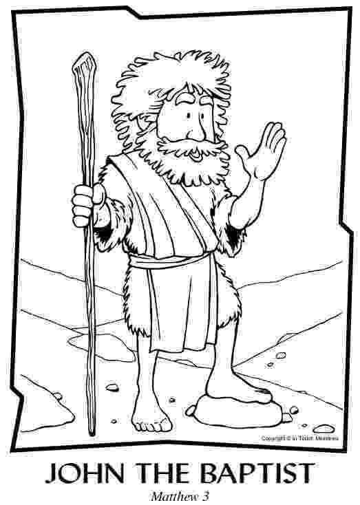 john the baptist coloring pages printable jesus being baptism by john the baptist coloring page netart pages john printable baptist the coloring