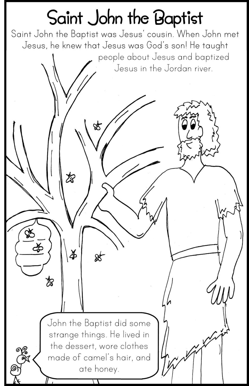 john the baptist coloring pages printable saint john the baptist coloring pages the catholic kid the john printable pages baptist coloring