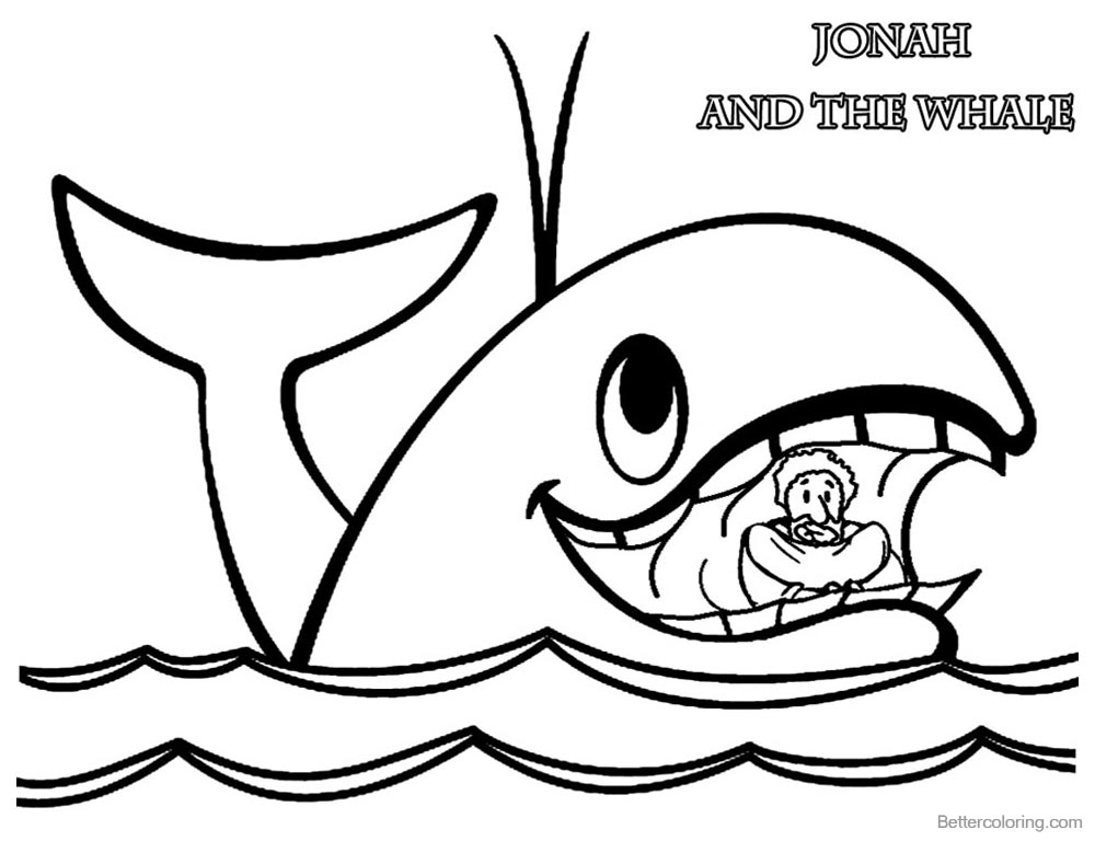 jonah and the whale coloring page jonah and the whale coloring pages free printable jonah page coloring and whale the