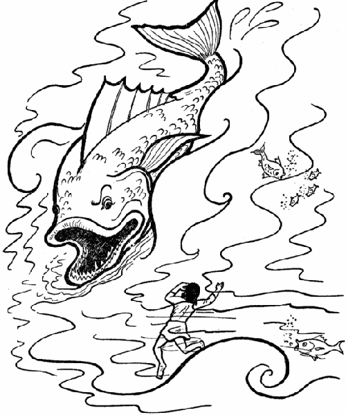 jonah and the whale coloring page jonah and the whale coloring pages free printable jonah whale page the and coloring