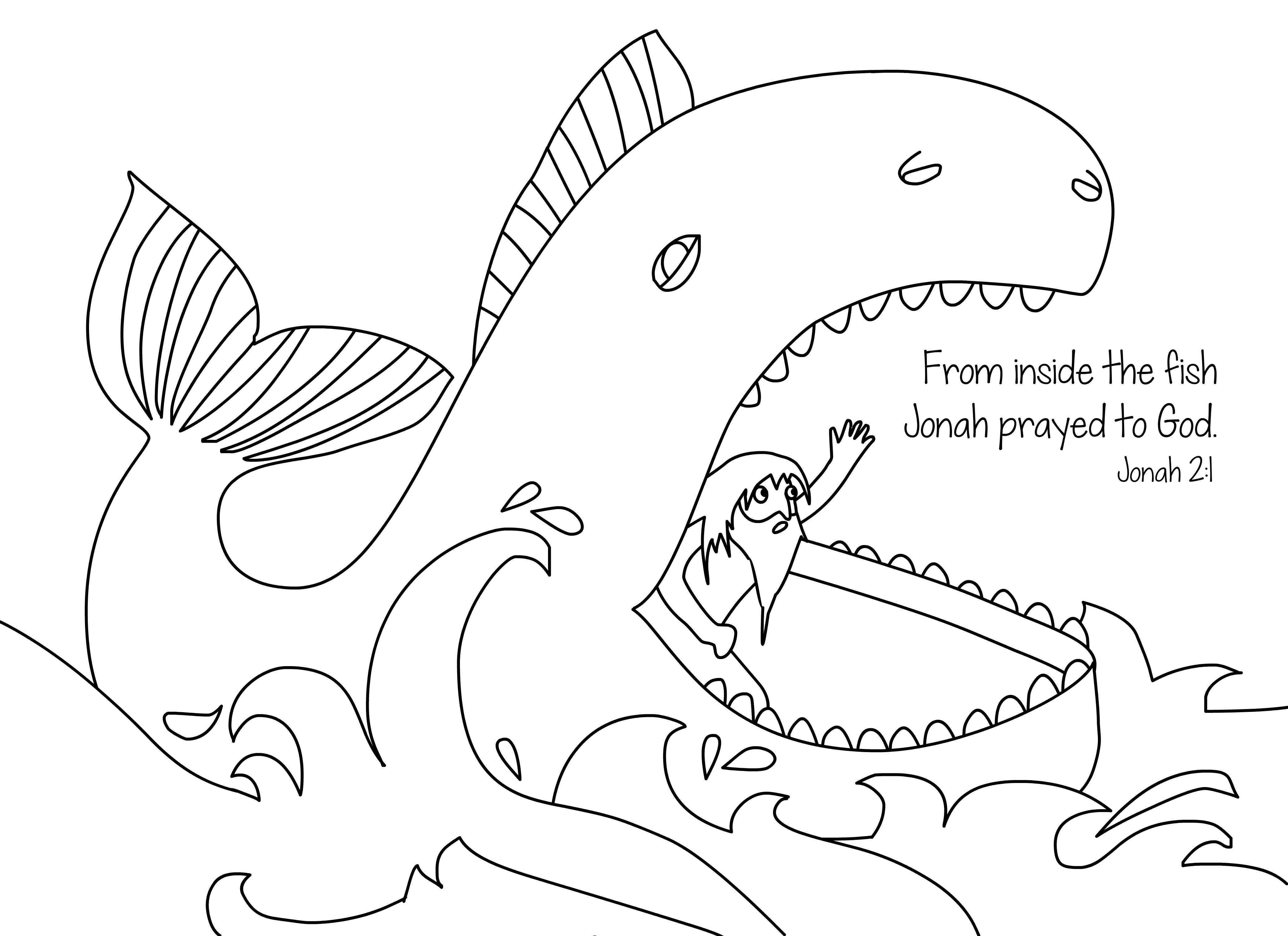 jonah and the whale coloring page jonah coloring pages free printable coloring pages for kids coloring and page the whale jonah
