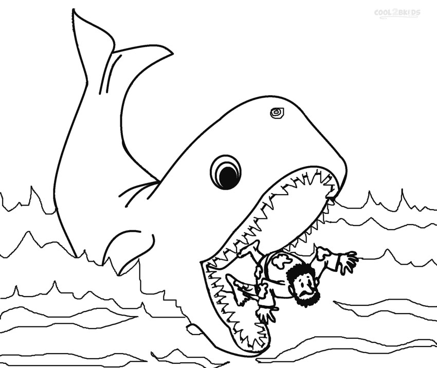 jonah and the whale coloring page printable jonah and the whale coloring pages for kids coloring jonah the and page whale