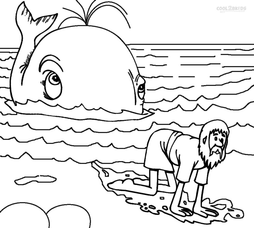 jonah and the whale coloring page printable jonah and the whale coloring pages for kids the coloring whale jonah page and