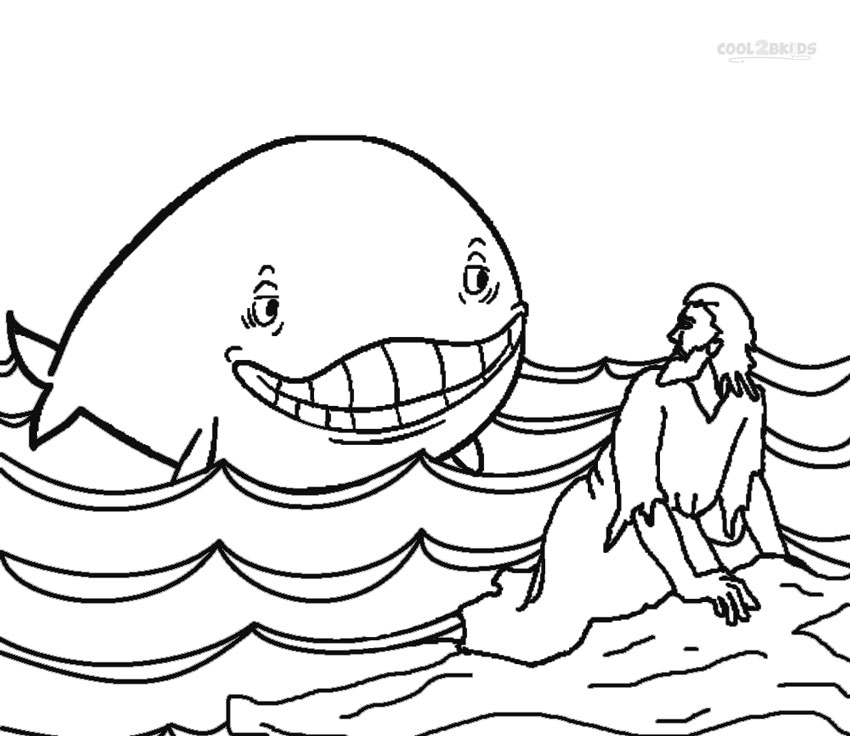 jonah and the whale coloring page printable jonah and the whale coloring pages for kids the page whale jonah coloring and