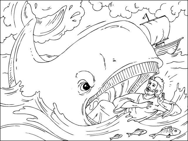 jonas dibujos para colorear dibujo para colorear de jonás cuando es tragado por un pez jonas para colorear dibujos